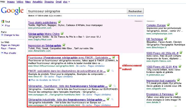 Referencement Naturel google