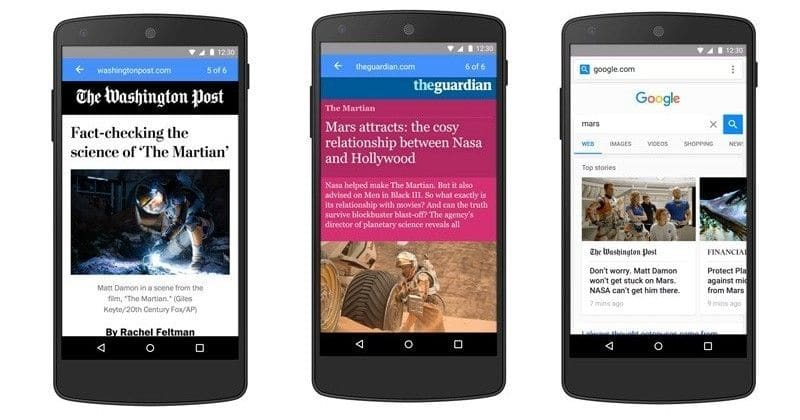 Google mobile pages AMP