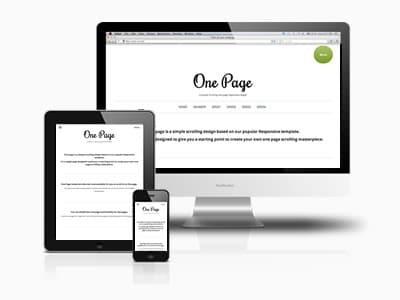 Référencement site one page