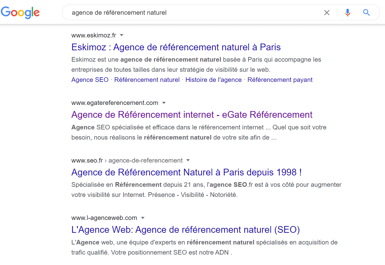 Agence de referencement naturel